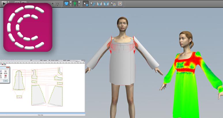 アパレル用3Dシミュレーションソフト「myu3D」